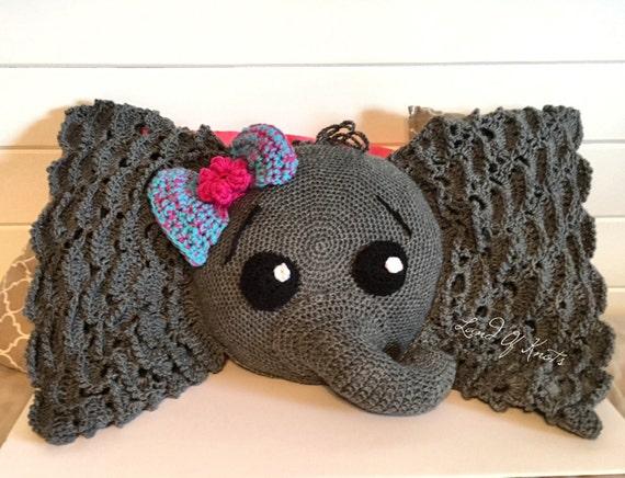Crochet Pattern Elephant Pillow Traitoro For