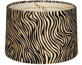 Zebra Print Hardback Lamp Shade - Various Sizes (HB-622)