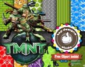 "Ninja Turtles Digital Paper : ""NINJA TURTLES DIGITAL paper""-  Free Ninja Turtles ClipArt with Ninja Turtles Digital Scrapbooking Paper"