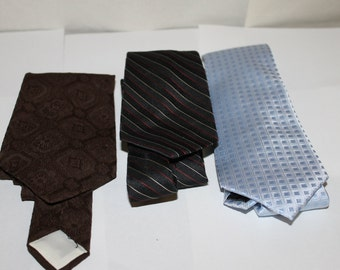 Three Vintage Ties, NICE Condition, Makers Include Madison 100% Silk, one is 100 Percent Dacron Polyester, one is Don Loper Beverly Hills