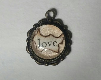 "Lead and Nickel-Free ""love"" pendant 1.2"