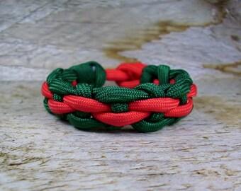 Paracord Bracelet Meandering Stream Weave,Survival Bracelet,His and Hers Parachute Cord Bracelet, Mens Para Cord Jewelry, Kids Paracord