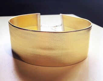 Wide Gold Vegan Leather Choker