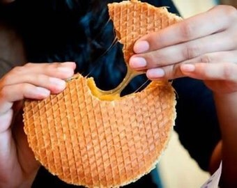 Stroopwafels, Syrup waffles, Treacle Waffle, Caramel Cookie Waffle, Waffle Cookie - typical Dutch treat stroopwafel