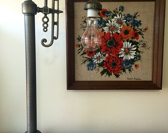 Vintage Art Deco Metal Lamp
