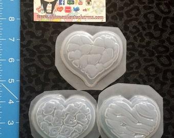 Animal print heart molds