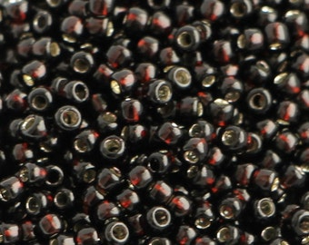 10g Toho Seeds Beads 11/0 Root Beer Brown Silver Line TR-11-2205 size 11