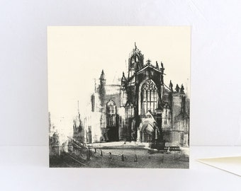 St Giles' Cathedral in Edinburgh Greeting Card