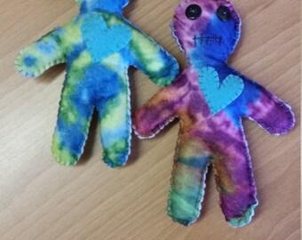 Tie dyed voodoo dolls
