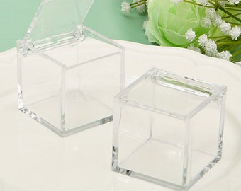 Clear Acrylic Favor Box (Pack of 5)