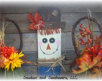 Wooden Scarecrow, Fall Decoration, Ready To Ship, Autumn Decor, Hand Painted, Handmade, Rustic , Fall Walling Hanging, Scarecrow Decoration