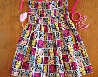 Girl's Marvel Summer Halter Dress size 5/6
