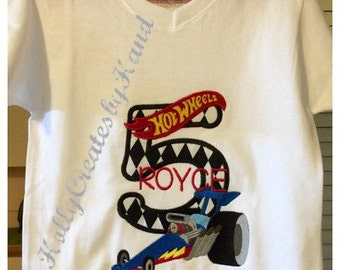 Hot Wheels Birthday Shirt - personalized - name and/or age free