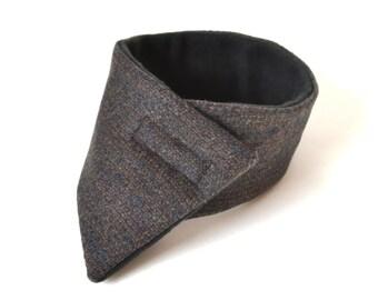 Modern adult's wool neck warmer, adult's scarf,women's cowl, men's scarf, women's scarf, men's neck warmer, velcro fleece scarf,