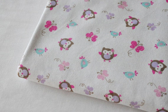 Cute baby knit fabric cute owl butterflyknit fabric kid for Cute childrens fabric