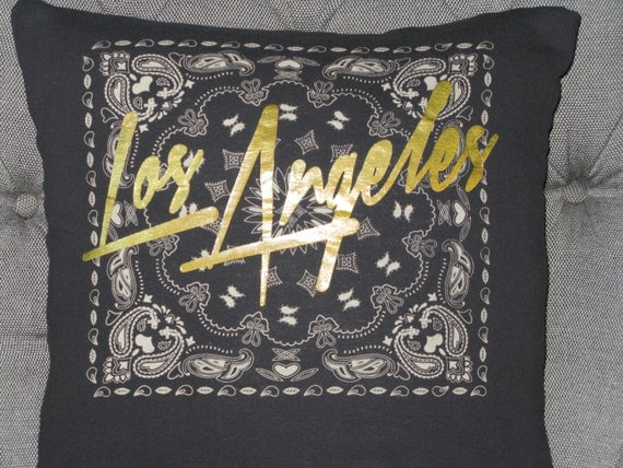 Los Angeles T Shirt Throw Pillow