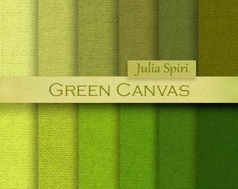 Green Canvas Digital Paper,  Linen backgrounds, Burlap, Canvas textures in green,  Scrapbook papers, Craft paper, Linen paper