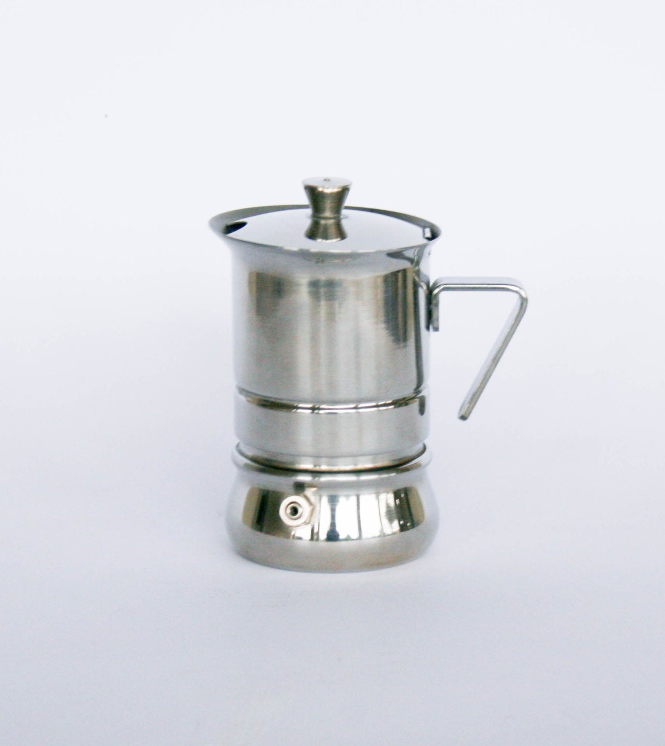 One Cup Latte Coffee Maker : Vintage Stainless Steel Coffee Maker / Espresso Maker 1 cup