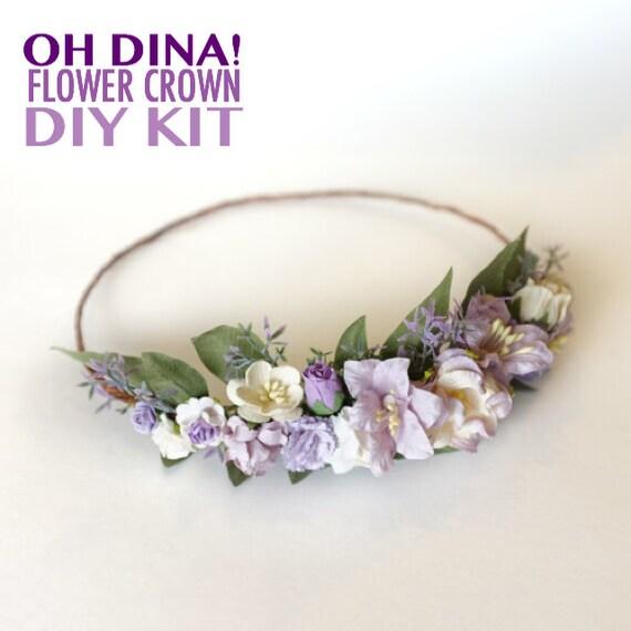 Lavender Flower Crown DIY Kit Lavender Wedding Headband DIY