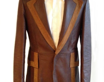 Late 1960's Leather and Suede Trimmed Jacket