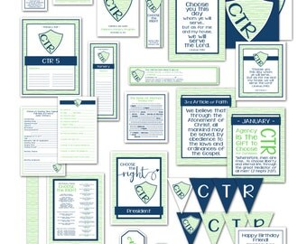 Bundle Kit - LDS Primary 2017 Theme PRINTABLE Choose the Right Presidency Helps Handouts Decor Planning Birthday Signs Posters Charts P008