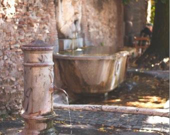 Rome fountain giardino degli aranci italy 13x18 photo print art