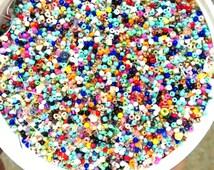 50 grams Multicolor seed beads, rainbow seed beads, 11/0, clearance beads, sale beads,tiny beads,2mm beads,glass beads