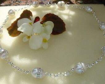 925 Silver necklace very unique Pearl!