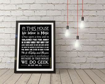 LARGE We Do Geek Poster!!! 24x36 or 36x48 size!!