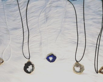 Druzy Necklace And Bracelets