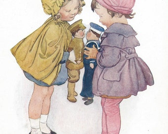 Vintage 1920s Sweet Children's Book Plate  -The Introduction