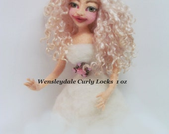 Doll Hair, Wensleydale Curly Locks,  Curly Locks, Platinum Blonde,  Listed for 1 oz.