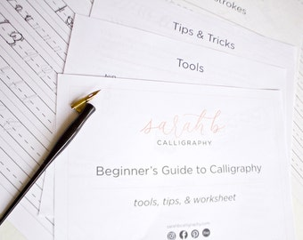 LEARN CALLIGRAPHY Calligraphy Guide Calligraphy Worksheet Calligraphy Exemplar FULL Calligraphy Alphabet Modern Calligraphy