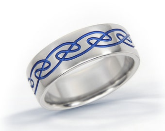 Irish Ring, Celtic Knot Ring, Celtic Titanium Ring, Engagement Ring