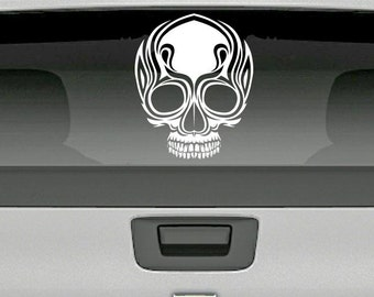 Skull Tribal Car Decal ~ Item 0401