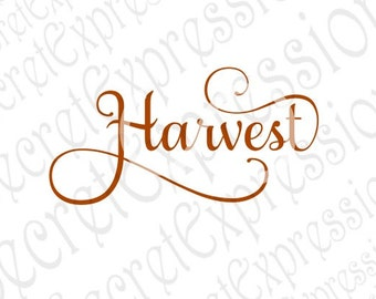 Harvest svg, Fall Sign Svg, Fall Svg, Thanksgiving Svg, Harvest Sign Svg Digital Cutting File DXF JPEG SVG Cricut, svg Silhouette Print File