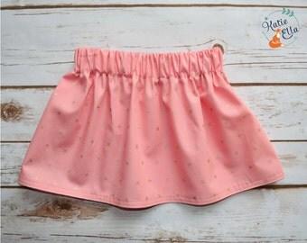 Girls Skirt | Summer Skirt | Pink Skirt | Gold Skirt | Newborn Skirt | Baby Skirt | Toddler Skirt | Made to Order | Elasticated Skirt