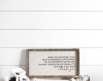 Choose You  // 17 x 9 Handmade Sign