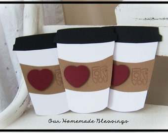 Coffee Cup Notecards, Greeting Cards, Just Because, Thank You, Friendship, Birthday, Get Well, Stationery, Latte, Frappe, Coffee Bean