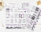 Diamond Printable Stickers Watercolor Gems Grystals Rhinestones Bling Purple Pink Blue Silver Planner Digital Instant Download Print Cut