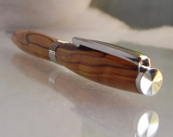 "Bethlehem Olive wood pen. Wooden pen - Groomsman, Graduation, Birthday, Boss, executive or 5th ""Wood"" Anniversary gift. Gift for her."