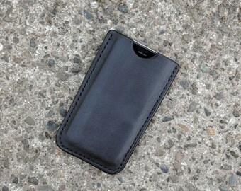 Handmade Leather iPhone Sleeve Case iPhone 6/6S/7, Black
