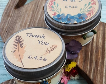 Set of 24 Custom Soy Candles - Custom Wedding Candles - Baby Shower Gift - Corporate Gift - Bridal Shower Gift -Custom Gift -4 oz candle