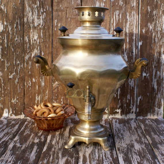Rare brass samovar russian 1990 samovar soviet electric metal Home decor 1990s
