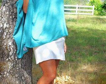 Hera Wrap, Hemp and Organic Cotton Wrap, Poncho, Hand Dyed