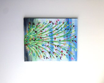 Flower Painting, Wall Art, Wall Decor, Colorful Flower Painting, Nature Painting, Abstract Art, Abstract Painting, Nature Art