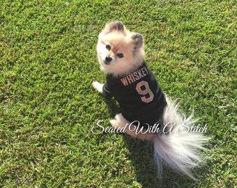 Dog Football Jersey, Black