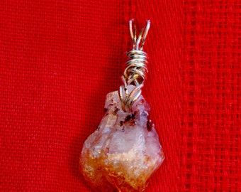 Wire Wrapped Smoky Quartz Crystal Pendant