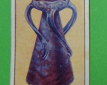 Vintage Collectible Cigarette Card ODGEN'S Modern British Pottery 1925 #4 Exc Cond Paper