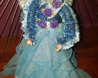 Blue Butterfly Angel Tree Topper